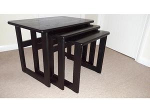 Nest of 3 Black Ash Coffee Tables (G Plan) in Poole