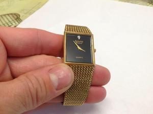 Gents gold plated accurist REAL diamond tank style watch - beautiful. Just £35