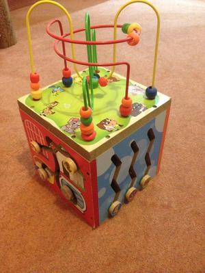 Wooden 5 in 1 Activity Cube - for Early Learners