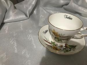 Heritage fine bone China father cup &saucer