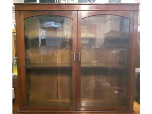 Victorian Solid Mahogany Bookcase with doors in Dewsbury