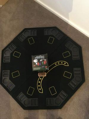 Poker set and table