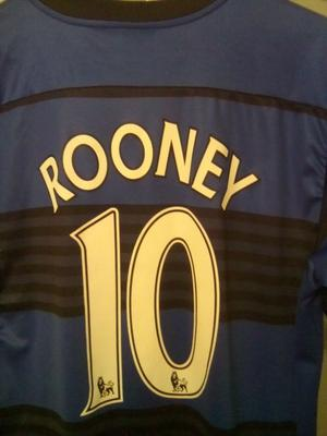WAYNE ROONEY BLUE/BLACK,NUMBER 10,MANCHESTER UNITED,VERY GOOD CONDITION