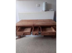 Chunky Solid Wood Coffee Table in Pontyclun