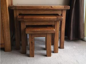 Solid Oak Nest Of Tables in Ramsgate