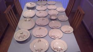 W. H. GRINDLEY & CO LTD VINTAGE SATIN WHITE CROCKERY