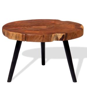 vidaXL Log Coffee Table Solid Acacia Wood ()x40 cm