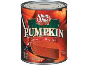 Shurfine Natural Pumpkin 822g (29oz) - American Import in