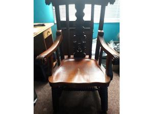 s solid hardwood bobbin chair in very good condition in
