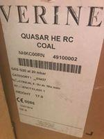 Verine Quasar HE inset live fuel effect gas fire with remote