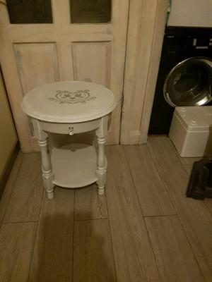 Gorgeous painted solid pine side table