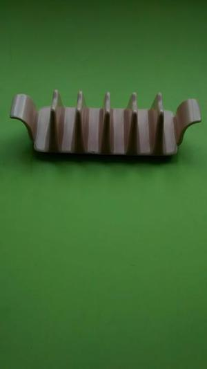 Vintage Poole Pottery winged toast rack