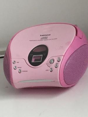 pink Portable Stereo Radio CD Player NEED GONE