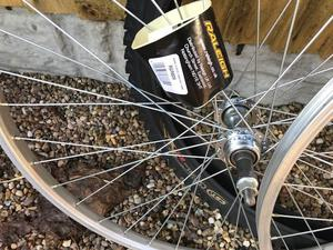 """front & rear 26"""" wheels + 1 tyre (all offers considered)"""