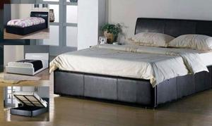 ***Brand New DOUBLE /kingsize LEATHER OTTOMAN STORAGE BED WITH Mattress***