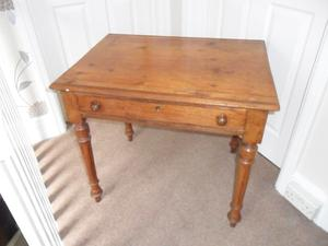 Old Table Hall / Side Table With 1 Drawer
