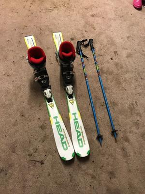 Head junior skis,120cm nordica boots 4/5 and poles