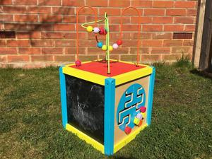 Chad Valley Wooden Activity Cube