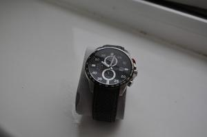 BRAND NEW ACCURIST MENS BLACK CHRONOGRAPH, WITH PRESENTATION REAL LEATHER BOX, BRAND NEW