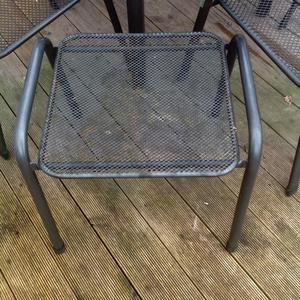 Kettler garden patio set 4 chairs, table and stool