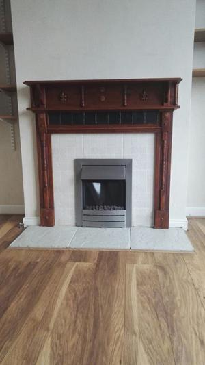 electric heater with fire place