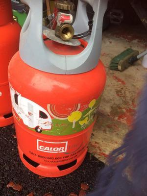 Calor gas 6kg approximately 1/4 full, ideal for caravan use