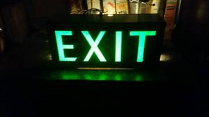 Industrial exit sign