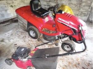 Honda ride on mower, push mower, strimmer & various gardening things