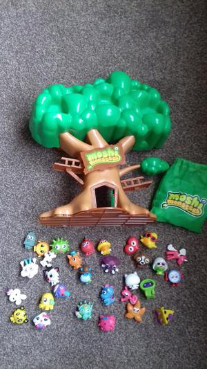 Moshi monsters tree house and characters