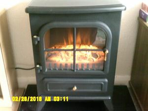 Log effect electric stove