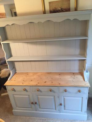 Solid pine painted Welsh dresser