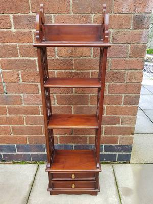 Vintage solid mahogany carved bookcase