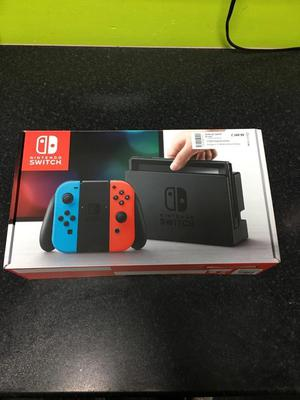 Boxed Nintendo Switch Game Red Neon/ Blue Joy Con