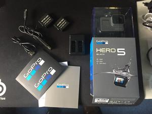 GoPro Hero 5 Black + 64GB SD + 2 Extra Batteries With Charging Dock