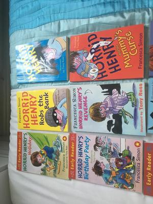 12 horrid Henry books - excellent condition - collection only