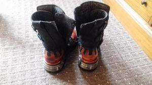 New Rock Flame Boots size 6