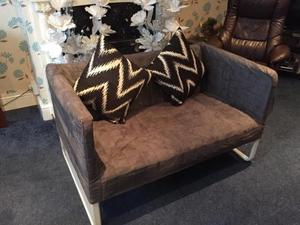 Stylish Comfortable Two Seater Sofa Settee Never Used Great For Boat or Flat Only £58