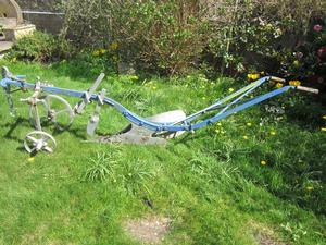 Ransomes vintage 'Bantam' horse drawn plough garden feature