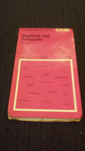 Ordnance Survey Map of Sheffield and Doncaster
