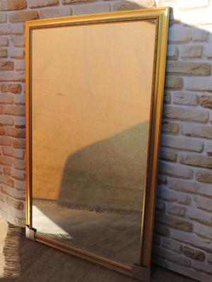 Stylish crafted golden edge mirror (Delivery)