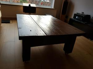 Wooden hand made coffee table