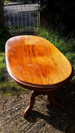 lovely oval wooden coffee table