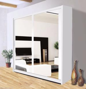 BLACK WHITE AND BROWN BRAND NEW SLIDING DOORS FULL MIRROR WARDROBE --- 5 DIFFERENT SIZES--