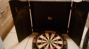 DARTS BOARD WITH CASE EXCELLENT CONDITION £25