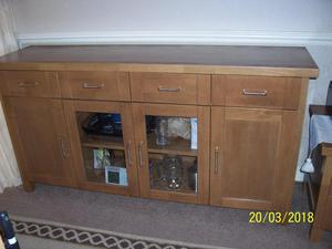 Large Solid Light Oak Sideboard