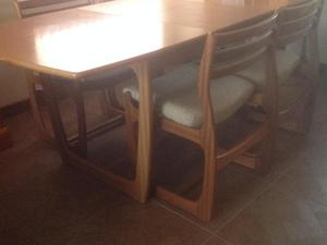 Retro GPlan 70's Dining Table & 4 Chairs