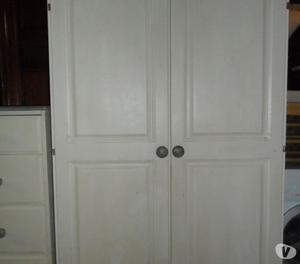 Solid pine painted double wardrobe