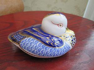 Royal Crown Derby Blue Duck Paperweight