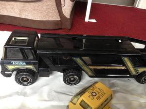 Tonka METAL car transporter(1meter) digger and truck