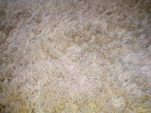 Large Cream Coloured Fluffy / Shaggy Texture Rug 180cm Long x 120cm Wide - Clean and Ready to Use!